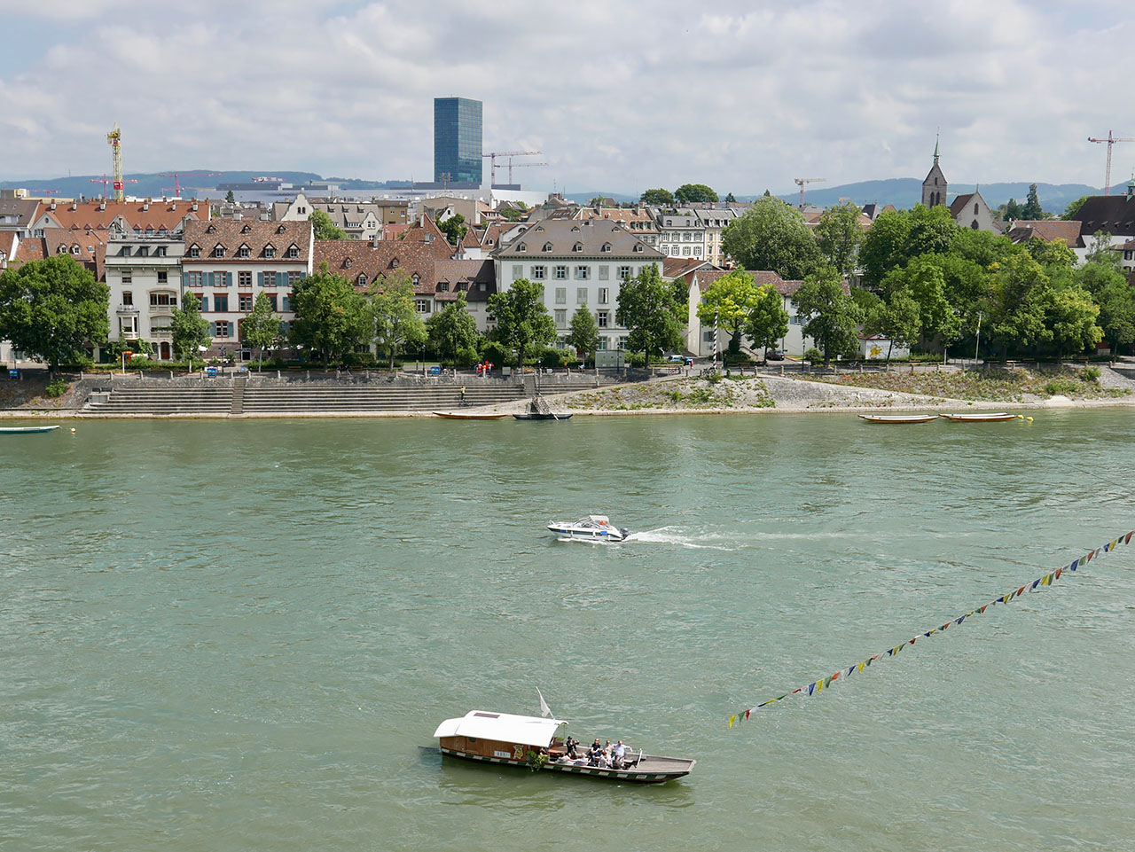 Cara Sharratt Travel - Basel, Switzerland - Taxi boat crossing the Rhine