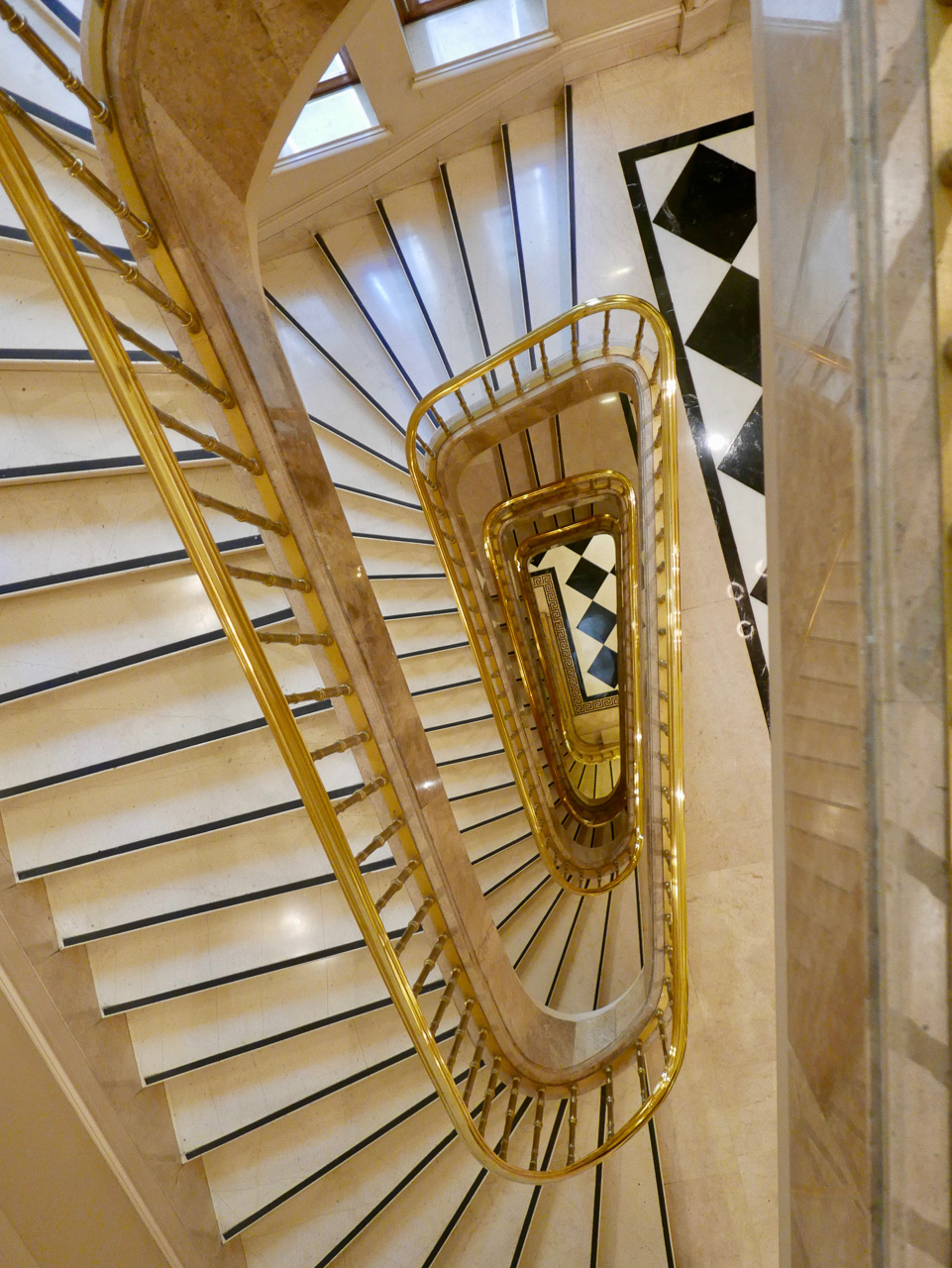 Cara Sharratt Travel - Athens, Greece - Hotel Grande Bretagne, Staircase