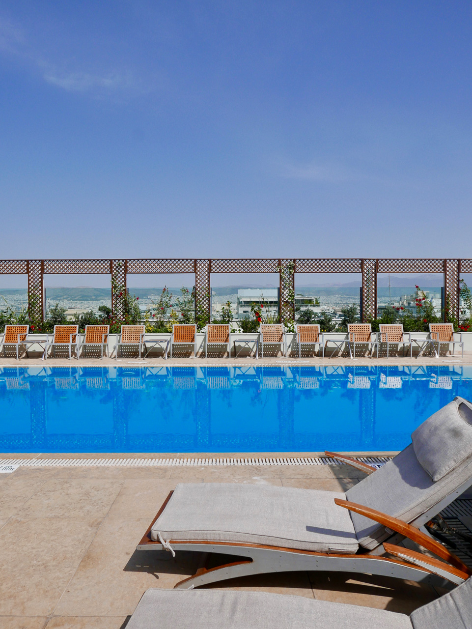 Cara Sharratt Travel - Athens, Greece - Hotel Grande Bretagne, Rooftop Pool