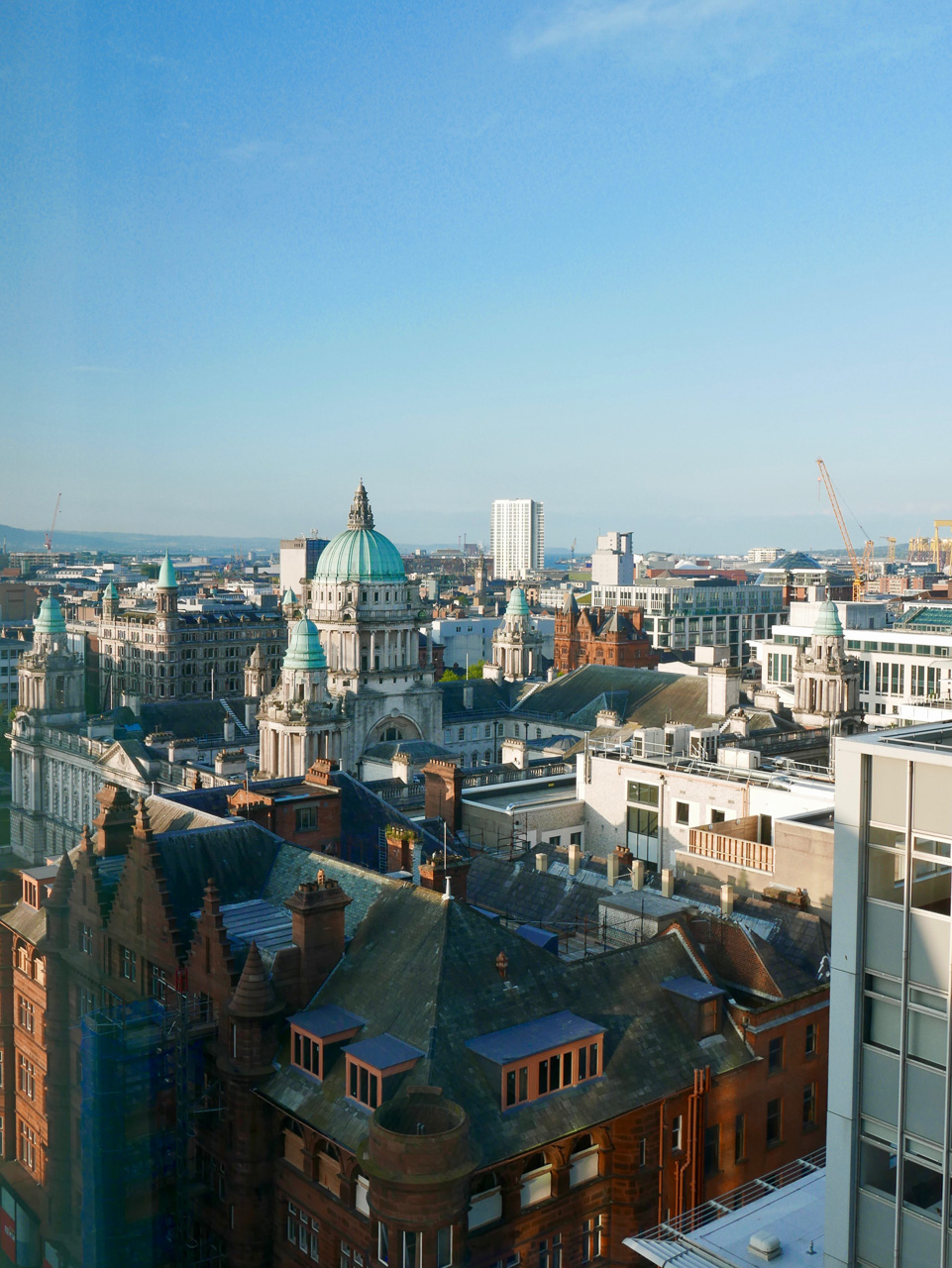 Cara Sharratt Travel - View from Grand Central Hotel - Belfast, Northern Ireland