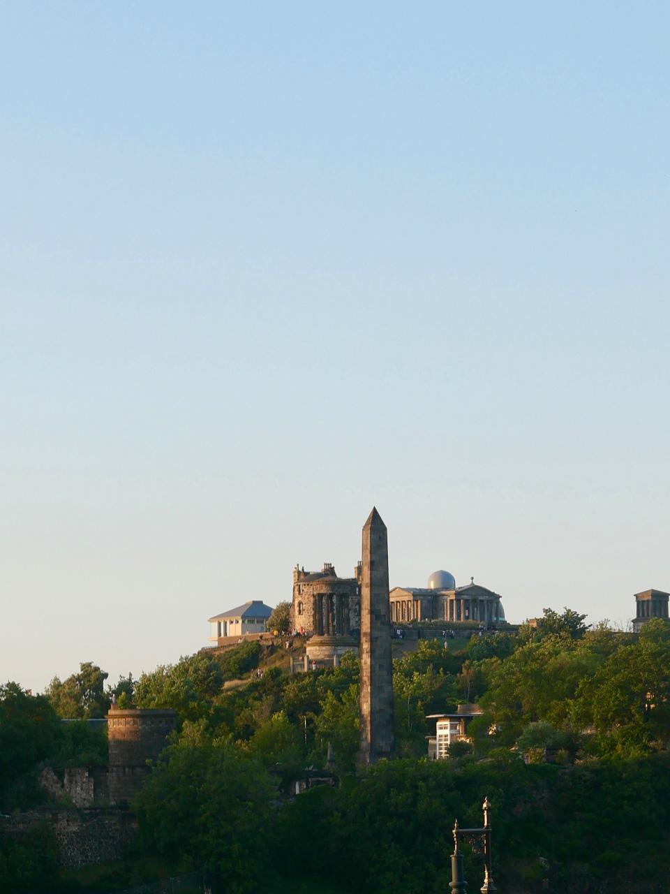 Cara Sharratt Travel - View of Calton Hill - Edinburgh, Scotland