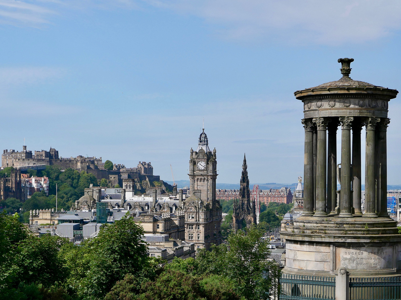 Cara Sharratt Travel - View from Calton Hill - Edinburgh, Scotland