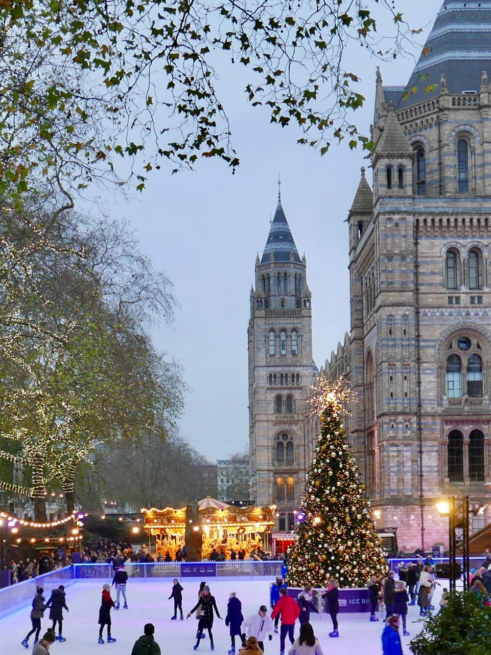 Cara Sharratt Travel - Natural History Museum at Christmas - London, England