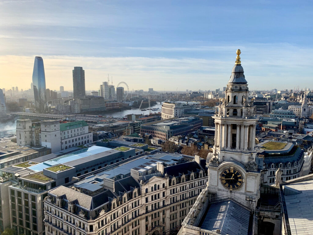 Cara Sharratt Travel - View of London from St. Paul's Cathedral